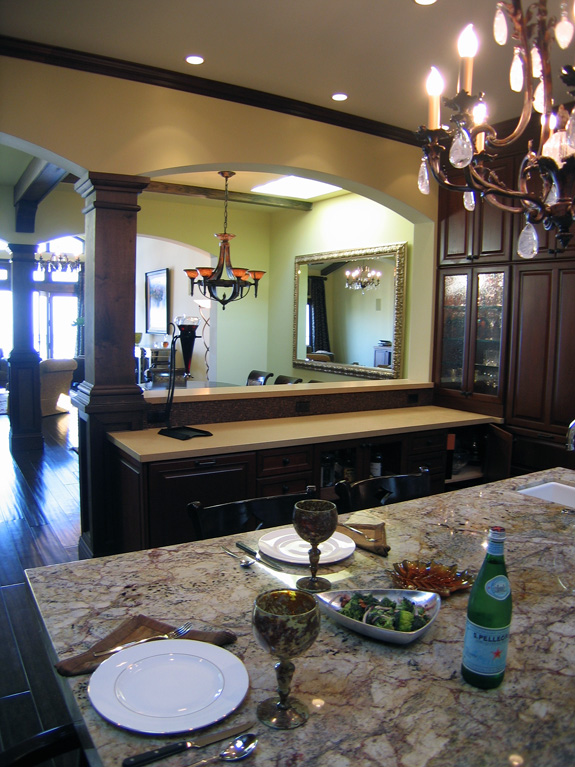 San Francisco Residence – View to dining room from kitchen island
