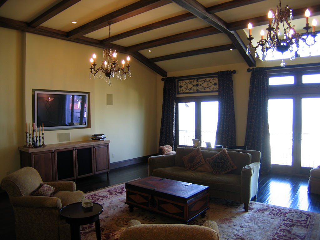 San Francisco Residence - Living room with vaulted ceiling