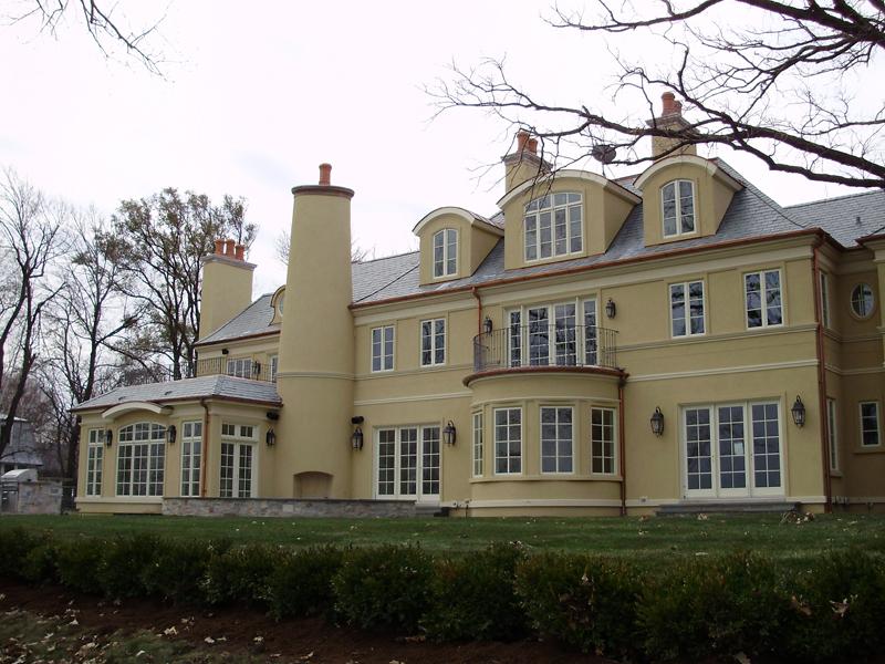 Kenilworth Residence - Full View of Rear Facade