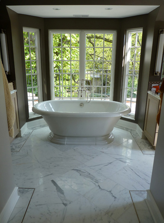 Kenilworth Ave. Residence - Master Bath Tub