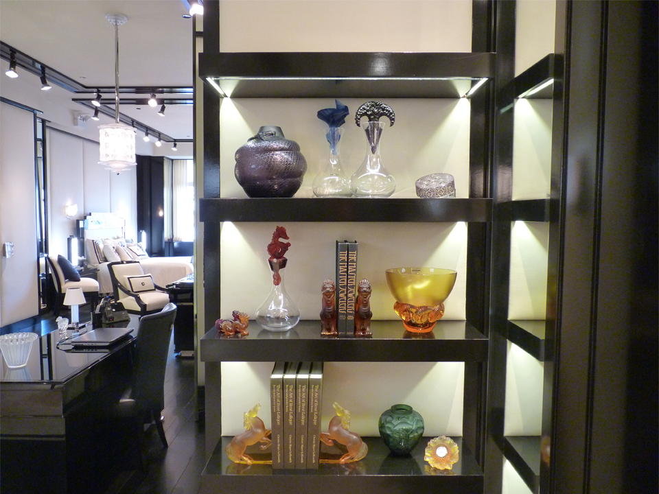 Lalique Chicago Showroom - Shelves