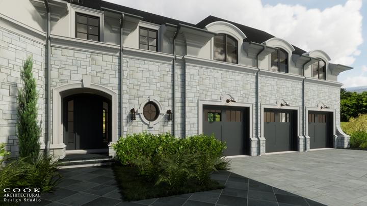 Ligan Residence_Garage Exterior Rendering