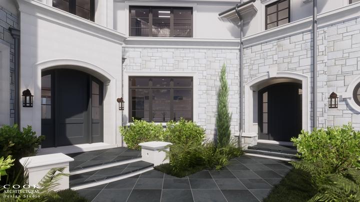 :Ligan Residence_Front Door Exterior Rendering