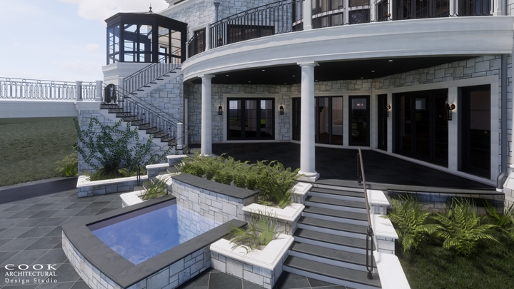Ligan Residence_Exterior Porch Rendering