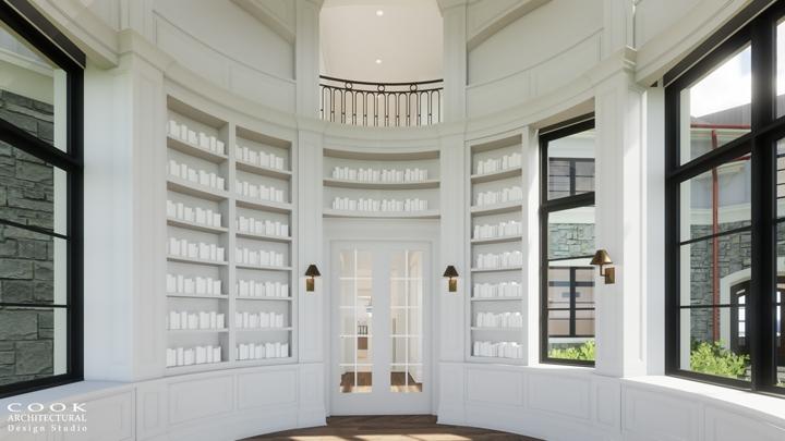 Ligan Residence_Library Rendering