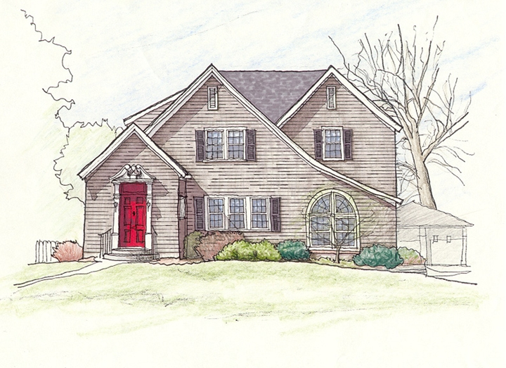 North Residence_Color Sketch
