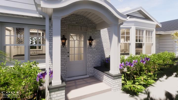 Spruce Residence_Exterior Door Rendering
