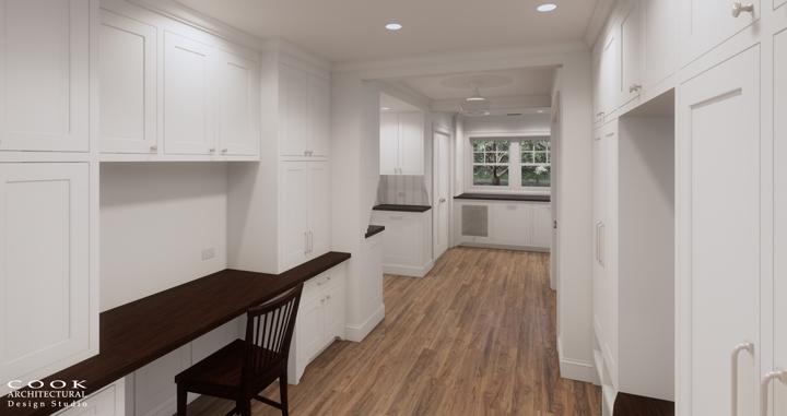 Spruce Residence_Mudroom Rendering