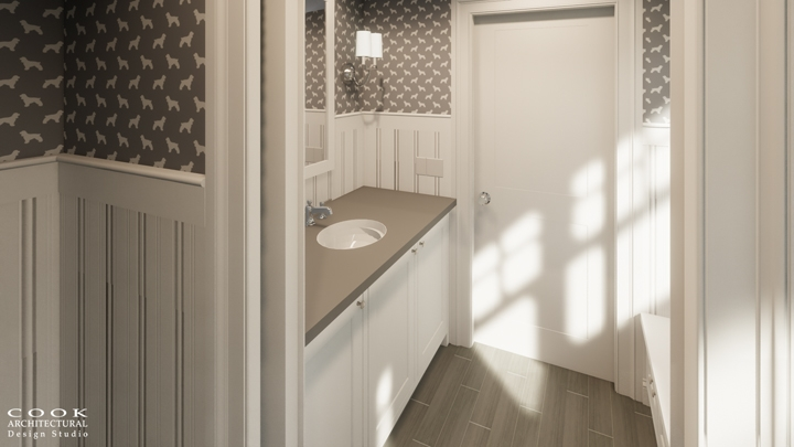 Spruce Residence_Powder Room Rendering