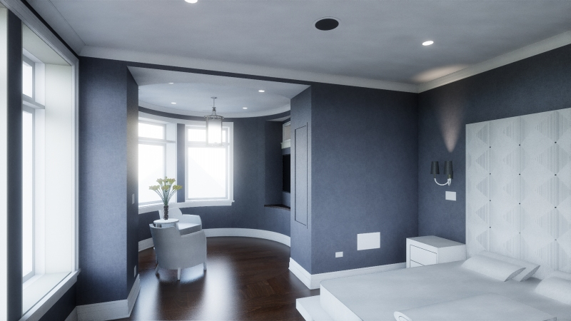 The Blue Lady Master Bedroom Rendering