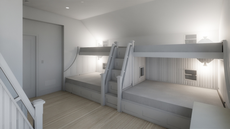 The Blue Lady Bunk Room Rendering