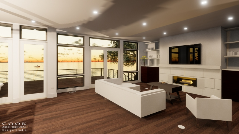The Brando Living Room Rendering