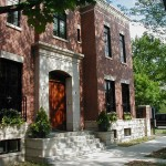 This city home has a traditional exterior design utilizing brick, limestone, and french doors with transoms on the first floor. The interior of this 5,000 sq. ft. home is intended to provide a tailored aesthetic that is classical in its organization and use of symmetry.