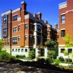 Located in the exciting Bucktown area, Wabansia Row creates the ambiance of a European courtyard with rich masonry detailing. The facade of each rowhome is distinguished through the use of varied architectural elements, details and materials including copper and limestone.