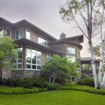 Situated on a beautiful lakefront site, the client desired to maximize the lake view from every room with a plan that was very open yet provided comfortable, defined spaces.