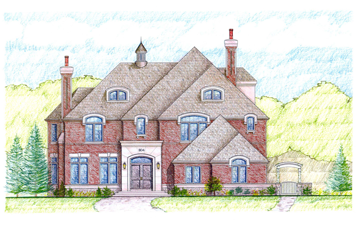Greenleaf Residence_Color Sketch