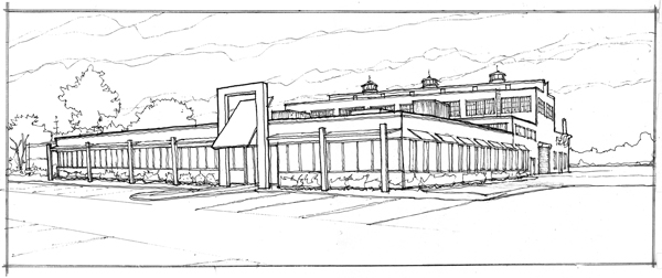 HillMech - Exterior Sketch