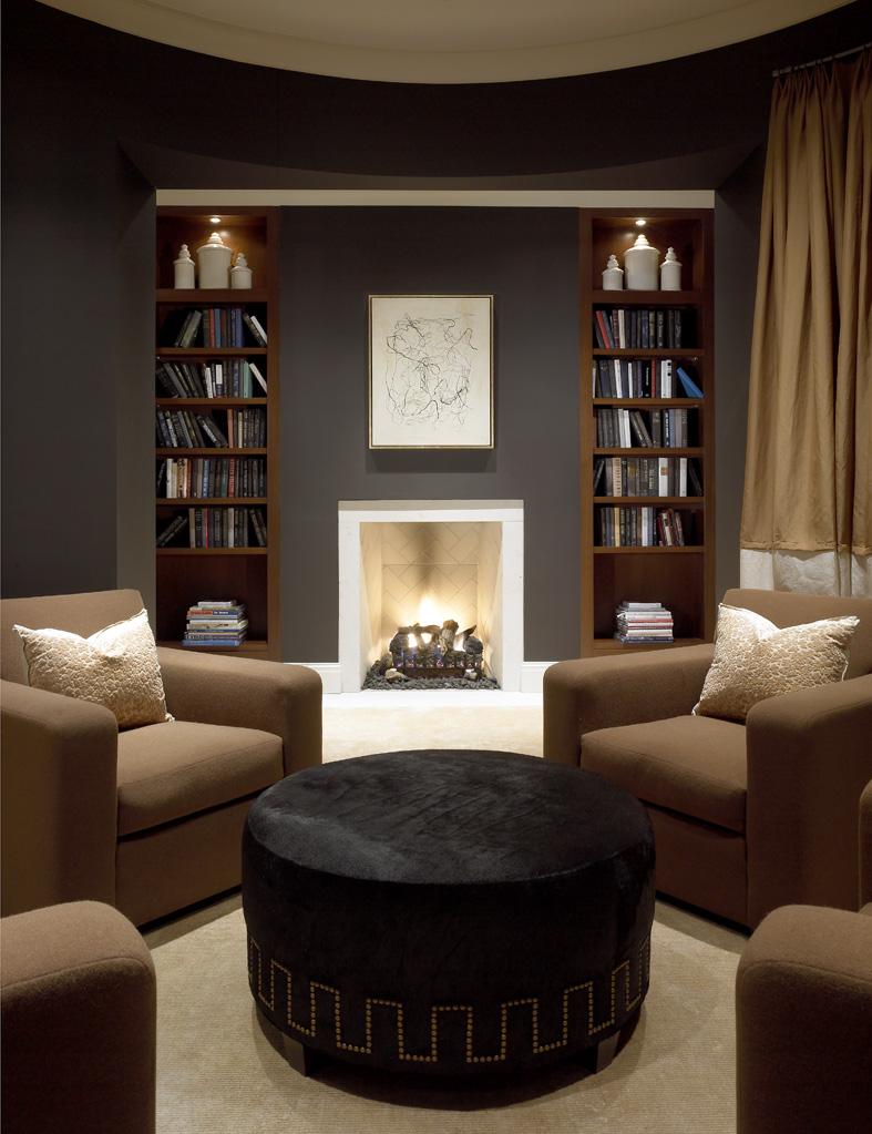 Barry Residence - Library Bookshelves