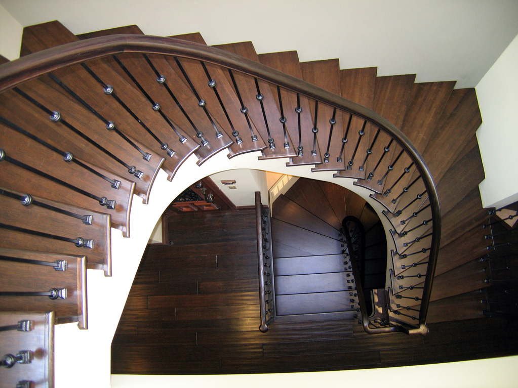 San Francisco Residence - View to curving stair below