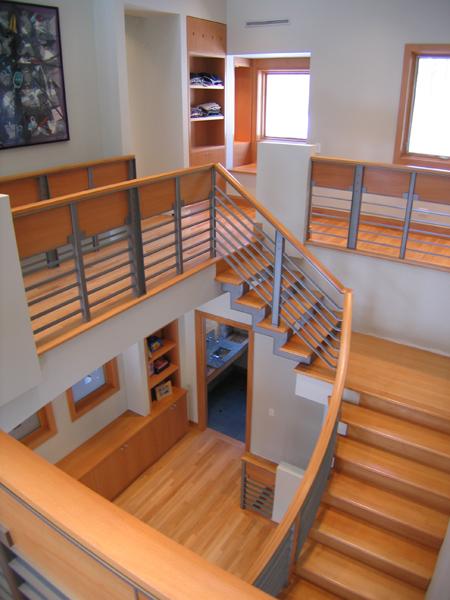 Bridgman Residence - Stair hall to kids bedrooms
