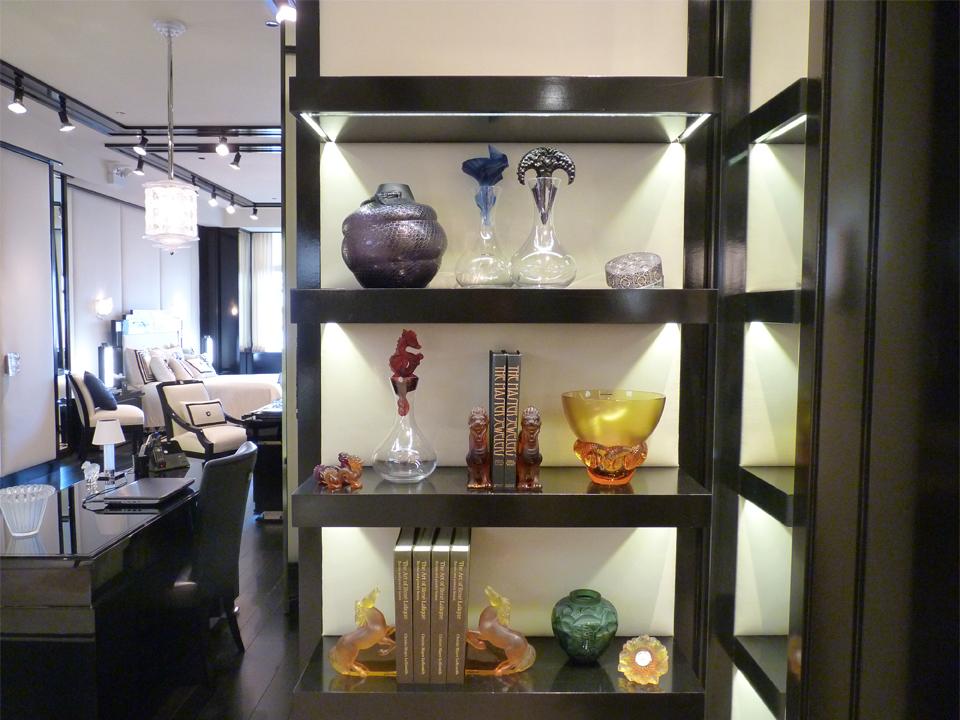 Lalique Chicago Showroom - Shelves
