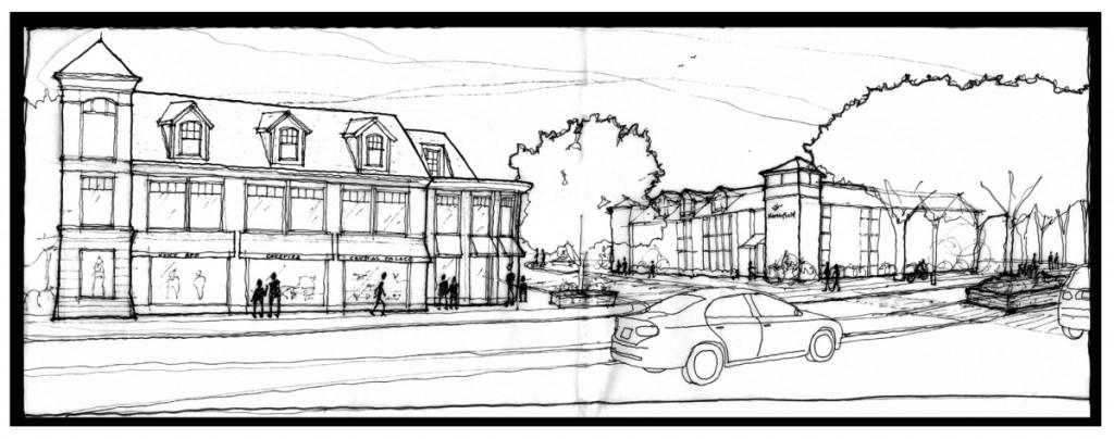 Northfield Village Center - Willow road east corridor