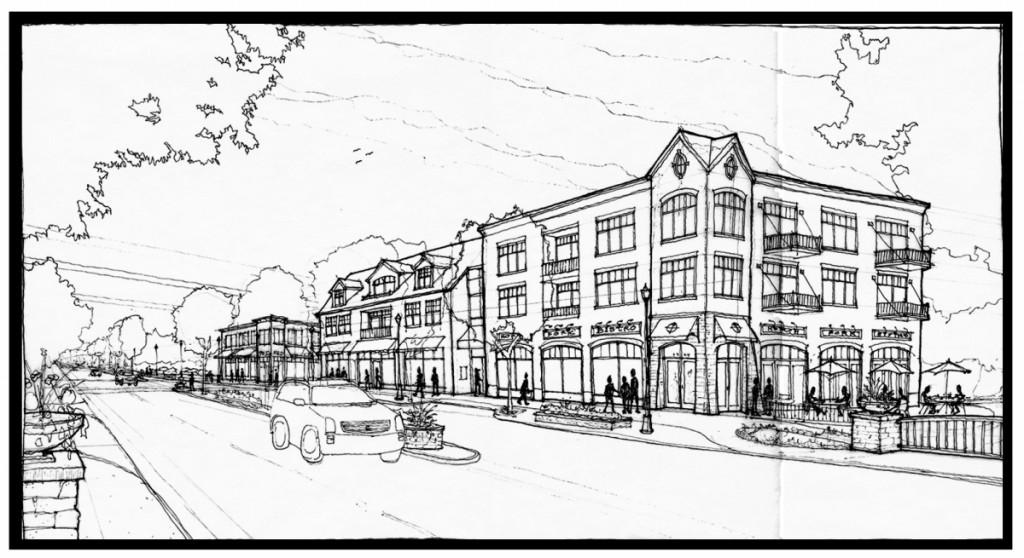 Northfield Village Center - Willow road west corridor